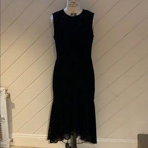 Maggy London Petite Black Lace and velvet Dress
